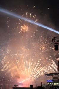 L'australia Day s'est cloturé par un magnifique feu d'artifices.