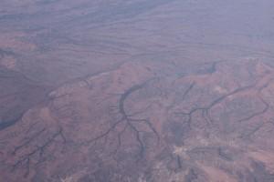 Le désert australien vu du ciel