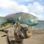 Statue de baleine