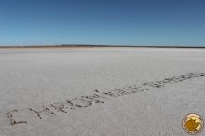 Message de Chris au lac Eyre