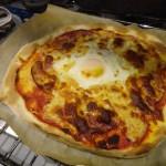 La pizza de Lucie à Sydney avec une pâte pétrie par Lucie !