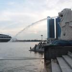 Le Merlion, symbole de Singapour