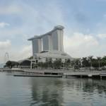 vue sur Marina Bay Sand (hôtel, galerie marchande de luxe...)